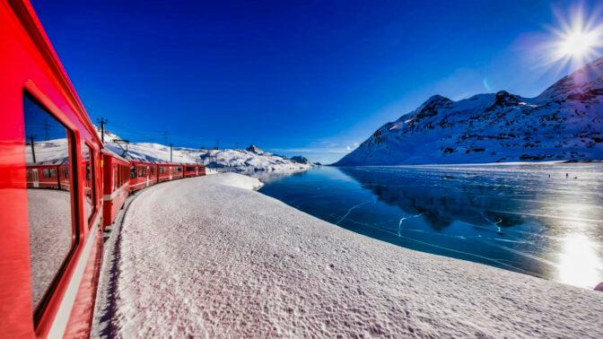 Trenino Bernina St. Moritz e Glorenza