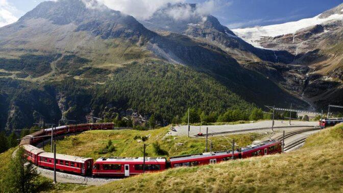 Bernina Express, St. Moritz e Glorenza